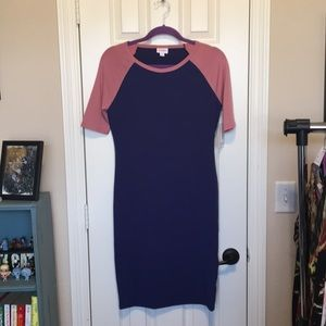 Lularoe Julia size small in rose and navy NWT